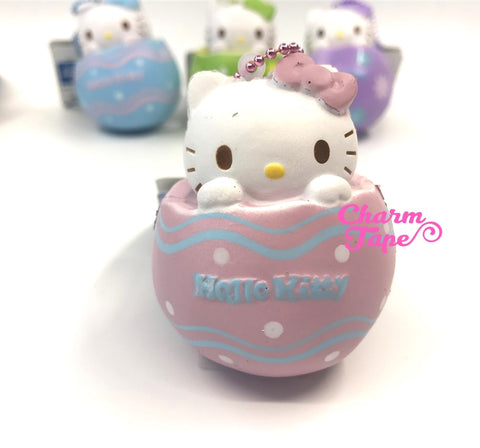 Hello Kitty Chocolate Egg Squishy cellphone charm by Sanrio - Pink