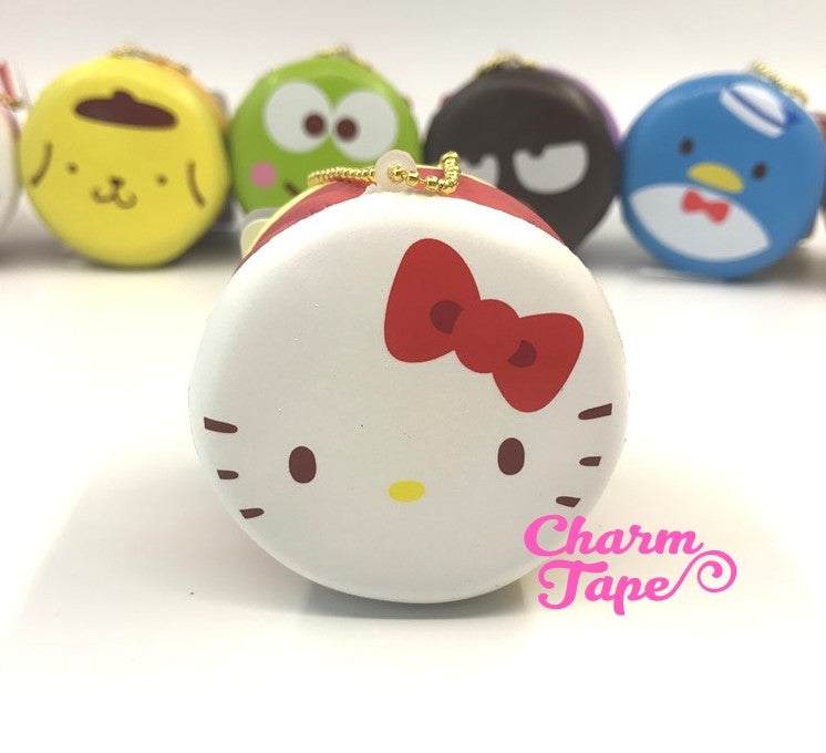 Hello Kitty round cake Puchi cake sweet treat squishy for bag