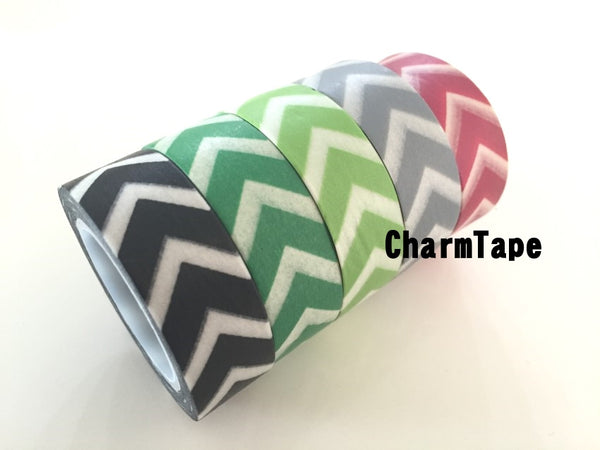 "Thick ""V"" Style Chevron Washi Tape 15mm WT1001 - CharmTape - 8"