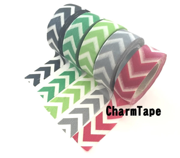 "Thick ""V"" Style Chevron Washi Tape 15mm WT1001 - CharmTape - 1"