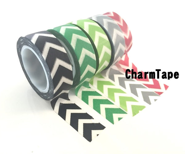 "Thick ""V"" Style Chevron Washi Tape 15mm WT1001 - CharmTape - 9"