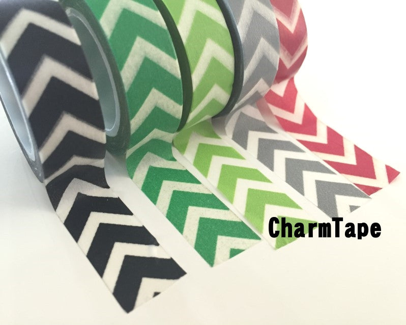 "Thick ""V"" Style Chevron Washi Tape 15mm WT1001 - CharmTape - 10"