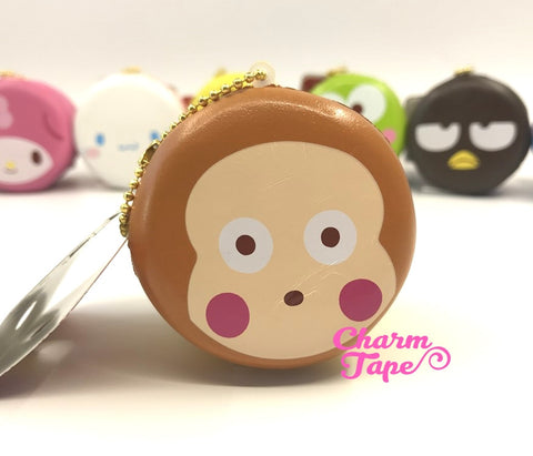 Monkichi round cake Puchi cake sweet treat squishy for bag
