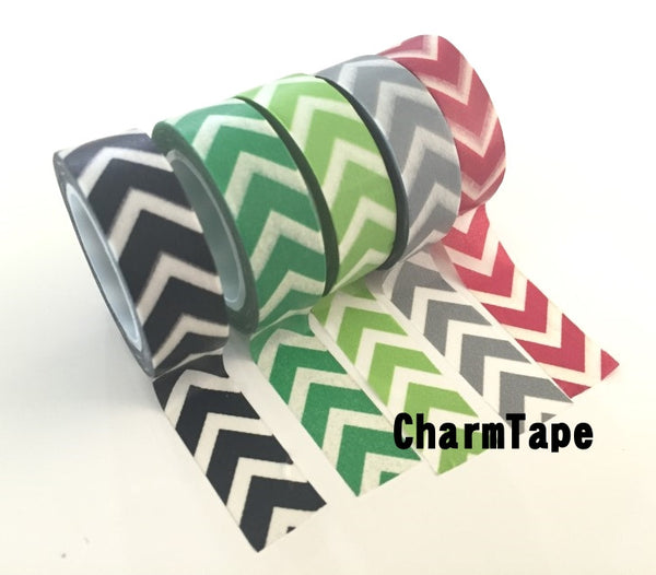 "Thick ""V"" Style Chevron Washi Tape 15mm WT1001 - CharmTape - 11"