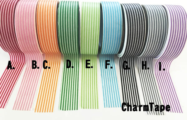 Stripes Washi Tape Roll 15mm x 10m WT1002 - CharmTape - 3