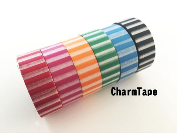Vertical Stripes Washi Tape 15mm WT91 - CharmTape - 1