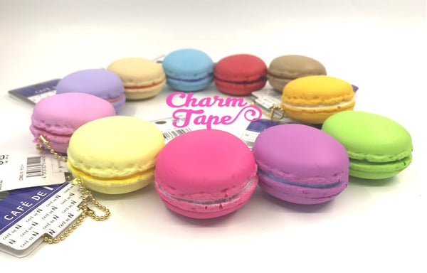 Cafe de N Strawberry Pink macaroon squishy charm kawaii