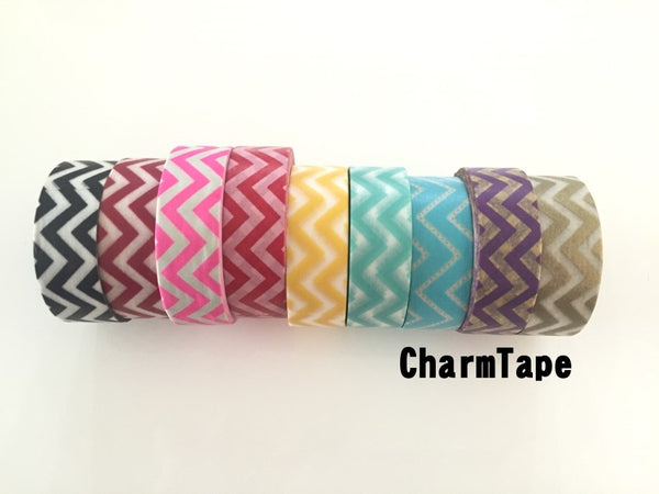 Zigzag Chevron Washi Tape Full Roll 15mm x 10m WT1005 - CharmTape - 2