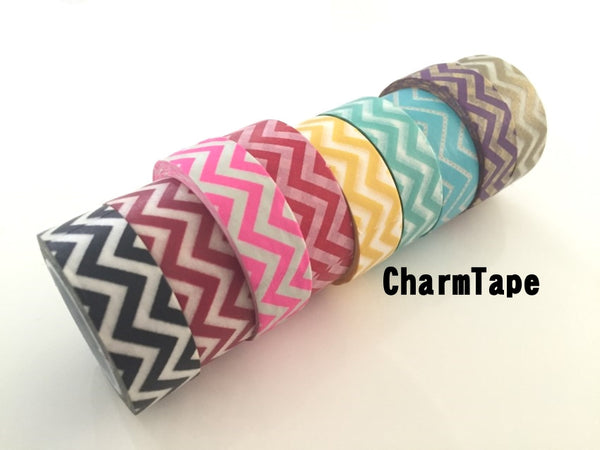 Zigzag Chevron Washi Tape Full Roll 15mm x 10m WT1005 - CharmTape - 1