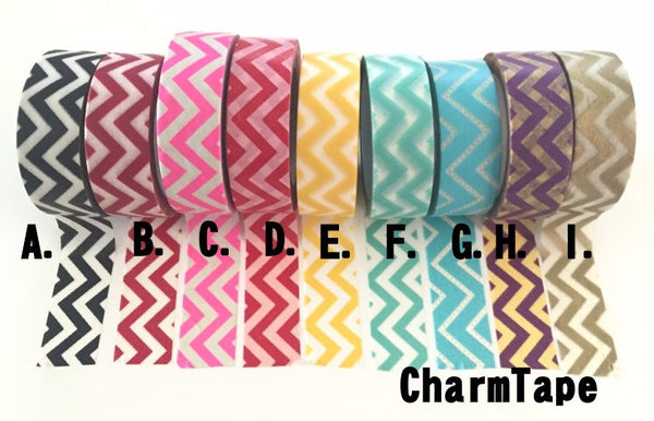 Zigzag Chevron Washi Tape Full Roll 15mm x 10m WT1005 - CharmTape - 3