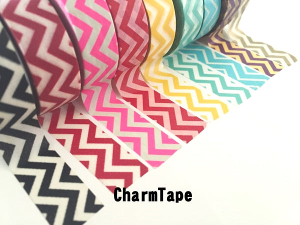 Zigzag Chevron Washi Tape Full Roll 15mm x 10m WT1005 - CharmTape - 4