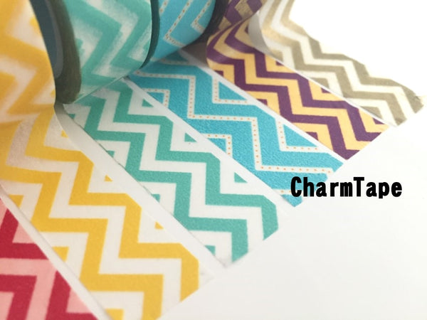 Zigzag Chevron Washi Tape Full Roll 15mm x 10m WT1005 - CharmTape - 5