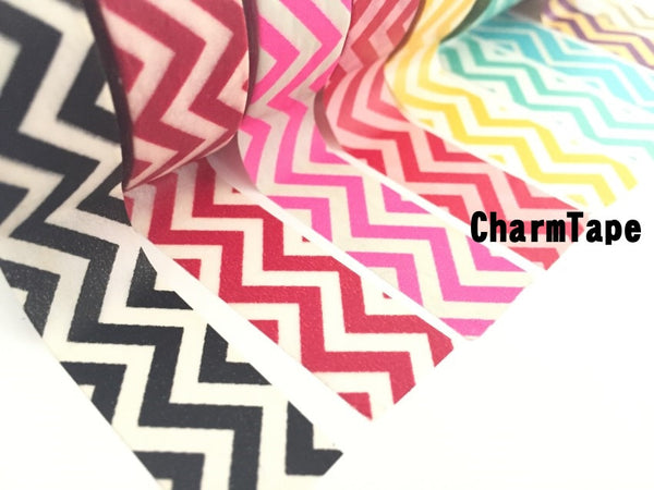 Zigzag Chevron Washi Tape Full Roll 15mm x 10m WT1005 - CharmTape - 6
