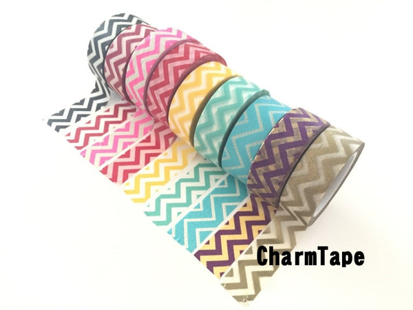 Zigzag Chevron Washi Tape Full Roll 15mm x 10m WT1005 - CharmTape - 8