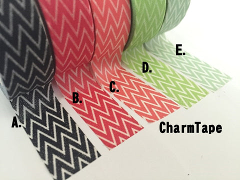 Chevron zigzag Washi Masking Tape Roll 15mm x 10m WT1007 - CharmTape - 1