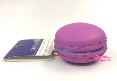 Cafe de N Purple macaroon squishy charm kawaii