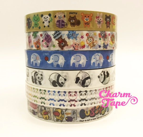 Panda Bear & Animal Plastic Deco Tape 15mm x 15 meters PT3