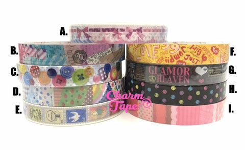 Buttons, patchwork, polka dots Plastic Deco Tape PT6 25 meters