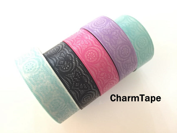 Lace Washi Tape Full Roll 15mm x 10 meters WT242 - CharmTape - 3