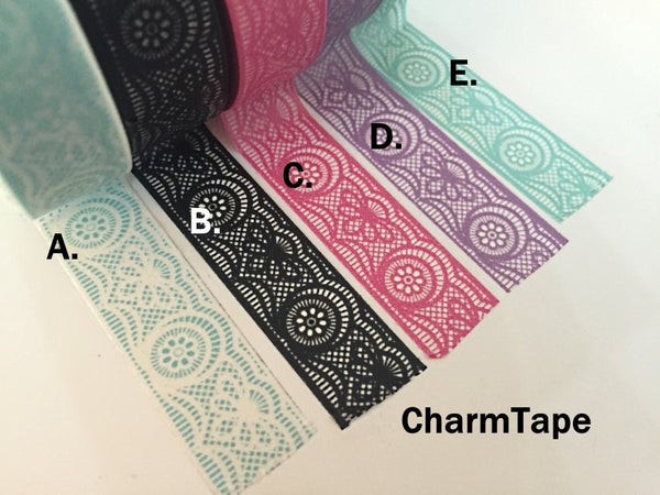 Lace Washi Tape Full Roll 15mm x 10 meters WT242 - CharmTape - 2