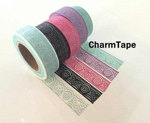Lace Washi Tape Full Roll 15mm x 10 meters WT242 - CharmTape - 6