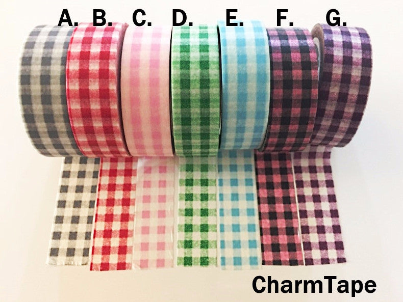 Graham Check Washi tape 15mm x 10 meters WT699