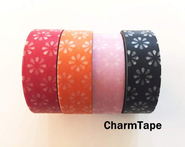 Sakura Flowers Washi Masking Tape 15mm x 11 yards WT272 - CharmTape - 2