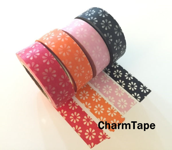 Sakura Flowers Washi Masking Tape 15mm x 11 yards WT272 - CharmTape - 6