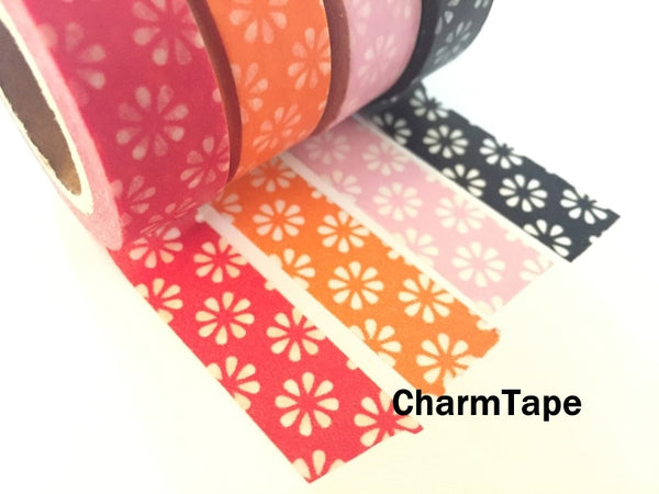 Sakura Flowers Washi Masking Tape 15mm x 11 yards WT272 - CharmTape - 7