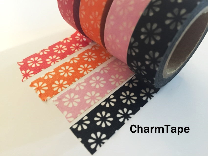 Sakura Flowers Washi Masking Tape 15mm x 11 yards WT272 - CharmTape - 1