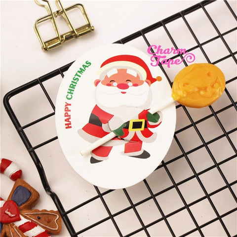 Christmas Lollipop / Pencil Holder - Small Gift - Class Gift - Party Favor - Festive Gift 48-50 Lollipop Covers - Santa Claus