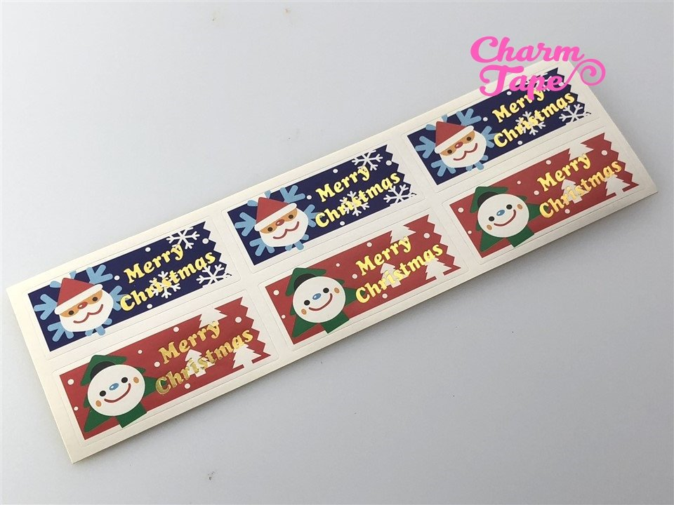 Festive Santa & Frosty Sticker For Gift Packing Packaging 3/10/30 sheets GS004