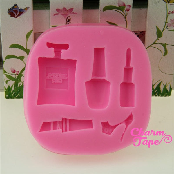 Perfume Bottle / Makeup Food Graded Silicon silicone mold for uv resin /cake/ fondant flexible mold H3405