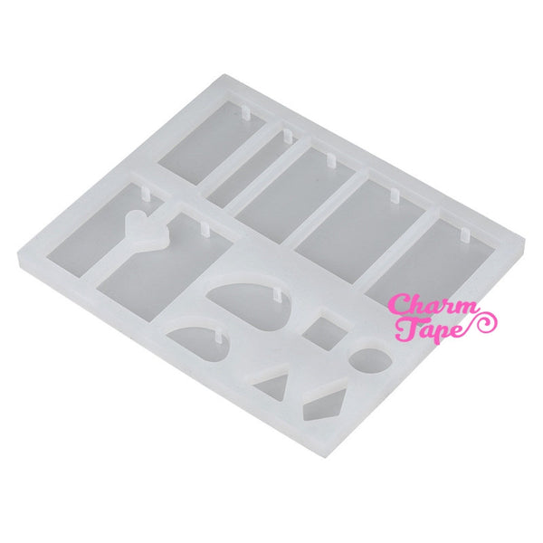 12 Designs Pendant Making Silicon mold charm mold flexible, for polymer clay, resin jewelry Q018
