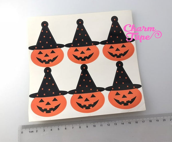 Halloween Pumpkin witch Sticker For Gift Packing Packaging 3/10/30 sheets GS003