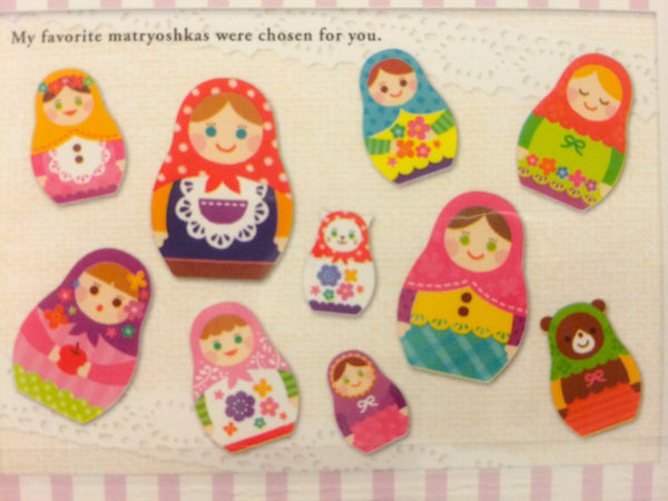 Matryoshka sticker flakes - Russian Dolls 70 pieces by Mindwave SS289