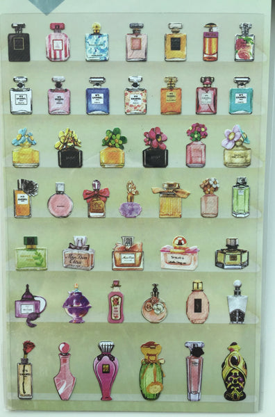 Perfume bottles Deco Vinyl sticker Daisyland art stickers 1 Sheet SS335