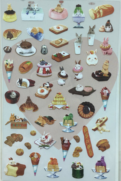 The fairytale rabbit PVC stickers by Daisyland 1 Sheet SS336