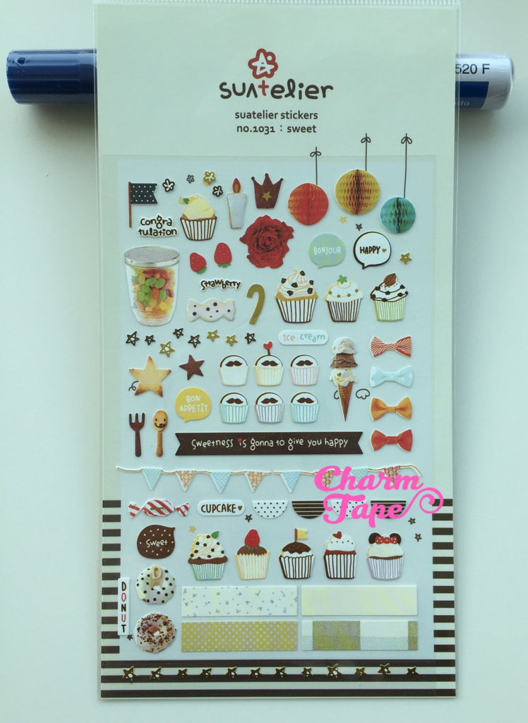 Birthday party Deco sticker 1 Sheets Suatelier SS557