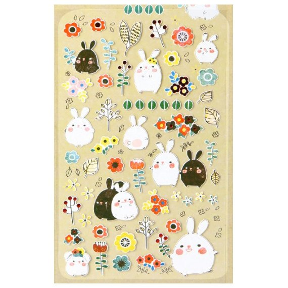 Suatelier Deco sticker art stickers - Bonny Rabbit SS1001 1 Sheets