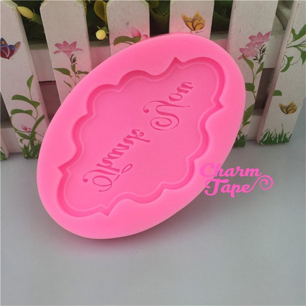 Thank You Food Grade Silicon silicone mold for uv resin /cake/ Fondant flexible mold H3967