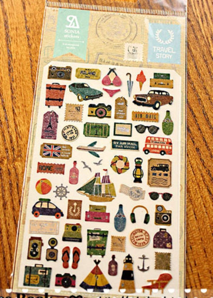Travel planner stickers art sticker by Sonia 1 Sheets SS255