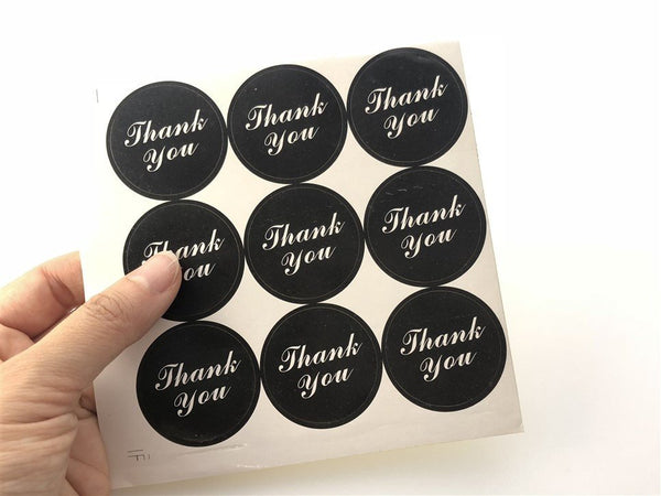 "45ct THANK YOU 1.37"" Round Paper Stickers For Gift Packing Packaging 5 sheets GS016"