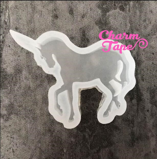 Unicorn charm Silicone mold flexible, for polymer clay, resin jewelry D200