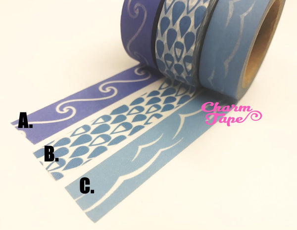 Blue sea Washi Tape 15mm x 10m WT60