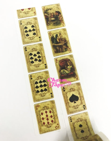 Alice in Wonderland Washi Tape • Playing Cards Washi Tape (30mm x 5m) WT994