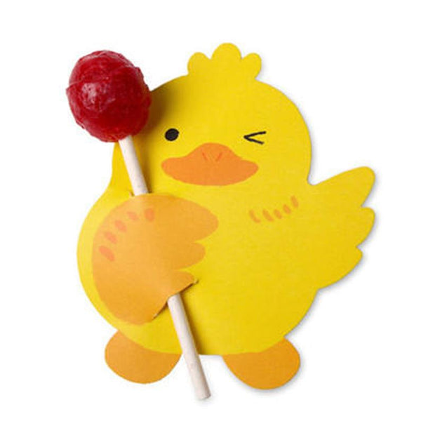 Lollipop / Pencil Holder - Small Gift - Class Gift - Party Favor - Thank You Gift 48-50 Lollipop Covers - Duck & Pink Bunny