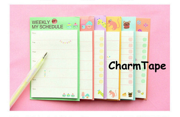 Daily / Weekly My Schedule post it memo note - CharmTape - 1