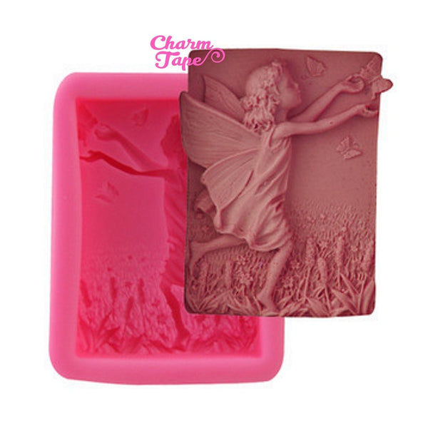 Very Detailed Little Angel Food Graded Silicon silicone mold for uv resin /cake/ fondant / soap making flexible mold H3297