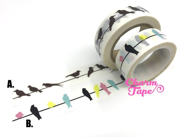 Birds Washi Tape 15mm x 10m WT248